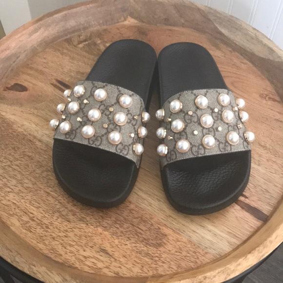 1e1c025105b Gucci Shoes - Brand new! Gucci Pearl Slide Sandal sz 36